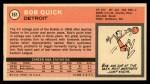 1970 Topps #161   Bob Quick Back Thumbnail