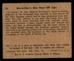 1941 Gum Inc. War Gum #36   MacArthur's Men Beat Off Japanese Back Thumbnail