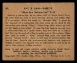 1941 Gum Inc. Uncle Sam Home Defense #60   Abandon Submarine Drill Back Thumbnail