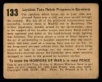 1938 Gum Inc. Horrors of War #133  Loyalists Take Rebels Prisoners in Barcelona  Back Thumbnail