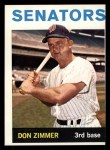 1964 Topps #134  Don Zimmer  Front Thumbnail