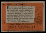 1956 Topps Davy Crockett #10 ORG  Ready to Strike  Back Thumbnail