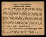 1941 Gum Inc. Uncle Sam Home Defense #40  Take-Offs And Landings  Back Thumbnail