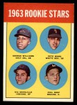 1963 Topps #324   Rookie Stars    -  George Williams / Pete Ward / Vic Davalillo / Phil Roof Front Thumbnail