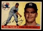 1955 Topps #38  Bob Turley  Front Thumbnail