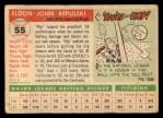 1955 Topps #55  Rip Repulski  Back Thumbnail