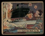 1941 Gum Inc. War Gum #34  U.S. Torpedo Boat Attacks Japanese Ship  Front Thumbnail