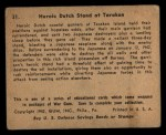 1941 Gum Inc. War Gum #31  Heroic Dutch Stand At Tarakan  Back Thumbnail