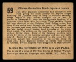1938 Gum Inc. Horrors of War #59   Chinese Grenadiers Bomb Japanese Launch Back Thumbnail