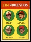 1963 Topps #29 COR  Rookies  -  Sammy Ellis / Ray Culp / John Boozer / Jesse Gonder Front Thumbnail