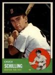 1963 Topps #52 COR  Chuck Schilling Front Thumbnail