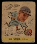 1938 Goudey Heads Up #283  Billy Werber  Front Thumbnail