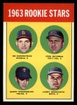 1963 Topps #386 COR Rookies  -  Ed Kirkpatrick / John Bateman / Garry Roggenburk / Larry Bearnarth Front Thumbnail