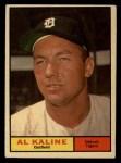 1961 Topps #429   Al Kaline Front Thumbnail