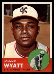 1963 Topps #376 ERR  John Wyatt Front Thumbnail