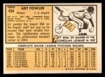 1963 Topps #454 ORG  Art Fowler Back Thumbnail