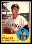 1963 Topps #454 ORG  Art Fowler Front Thumbnail