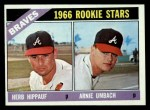 1966 Topps #518  Braves Rookies  -  Herb Hippauf / Arnie Umbach Front Thumbnail