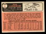 1966 Topps #43 COR  Don Landrum  Back Thumbnail