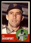 1963 Topps #388 A  Jim Davenport Front Thumbnail