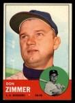 1963 Topps #439 B  Don Zimmer Front Thumbnail