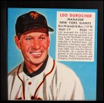 1952 Red Man #1 NLx Leo Durocher  Front Thumbnail