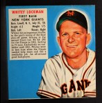 1952 Red Man #13 NLx Whitey Lockman  Front Thumbnail