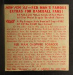 1953 Red Man #5 ALx  Nellie Fox Back Thumbnail