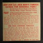 1953 Red Man #2 NLx Bobby Adams  Back Thumbnail