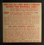 1953 Red Man #12 ALx Gene Woodling  Back Thumbnail