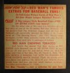 1953 Red Man #3 ALx Yogi Berra  Back Thumbnail