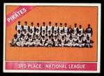 1966 Topps #404 COR Pirates Team  Front Thumbnail