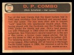 1966 Topps #156  Double Play Combo  -  Hal Lanier / Dick Schofield Back Thumbnail
