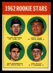 1963 Topps #54 ERR 1962 Rookies  -  Dave DeBusschere / Nelson Matthews / Harry Fanok / Jack Cullen Front Thumbnail