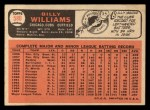 1966 Topps #580  Billy Williams  Back Thumbnail