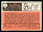 1966 Topps #36   Catfish Hunter Back Thumbnail