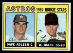 1967 Topps #51  Astros Rookies  -  Dave Adlesh / Wes Bales Front Thumbnail