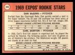 1969 Topps #646  Expos Rookies  -  Dan McGinn / Carl Morton Back Thumbnail