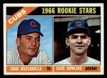1966 Topps #482  Cubs Rookies  -  John Boccabella / Dave Dowling Front Thumbnail