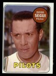1969 Topps #511 WN  Diego Segui Front Thumbnail