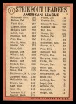 1969 Topps #11  1968 AL Strikeout Leaders    -  Sam McDowell / Denny McLain / Luis Tiant Back Thumbnail