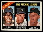 1966 Topps #224  AL Pitching Leaders  -  Jim Grant / Jim Kaat / Mel Stottlemyre Front Thumbnail