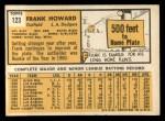 1963 Topps #123   Frank Howard Back Thumbnail