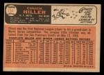 1966 Topps #154   Chuck Hiller Back Thumbnail