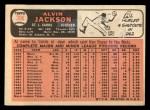 1966 Topps #206   Alvin Jackson Back Thumbnail