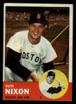 1963 Topps #168  Russ Nixon  Front Thumbnail
