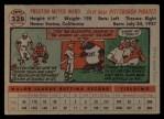 1956 Topps #328   Preston Ward Back Thumbnail