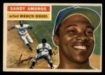 1956 Topps #42   Sandy Amoros Front Thumbnail