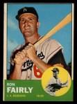1963 Topps #105 WHI  Ron Fairly Front Thumbnail
