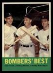 1963 Topps #173  Bomber's Best  -  Tom Tresh / Mickey Mantle / Bobby Richardson Front Thumbnail